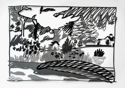 Tom Wesselmann, 'The Red Canoe (black) (L3)', 1990