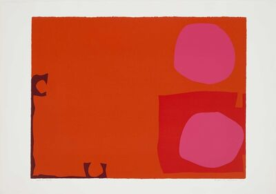 Patrick Heron, 'Two Magenta Discs in Reds', 1970