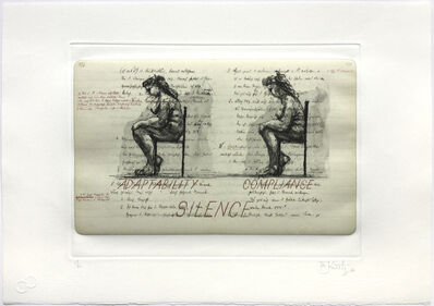 William Kentridge, 'Sleeping on Glass (Adaptability Compliance Silence)', 1999