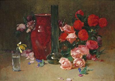 Soren Emil Carlsen, 'Roses and Vase', 1894