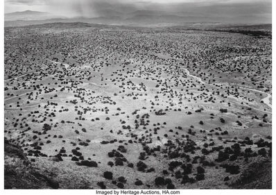 William Clift, 'Pojaque Plains, from Black Mesa, San Ildefonso, New Mexico', 1973