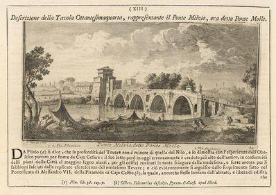 Giuseppe Vasi, 'Ponte Milvio, detto Ponte Molle', 1747