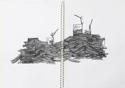 Takahiro Iwasaki, 'B:Drawing for Tectonic Model (Flow)', 2017