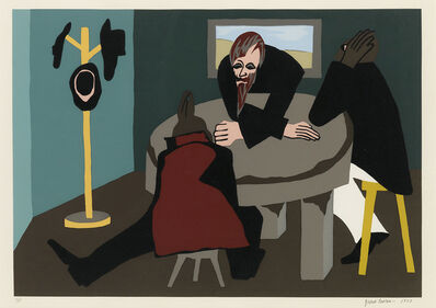Jacob Lawrence, 'N. 7. To the people he found worthy of his trust, he communicated his plans.', 1977