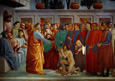 Masaccio, 'Saint Peter Raising the son of Theophilus', 1427