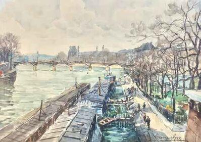 Georges Rose, 'Les quais et les péniches à Paris'