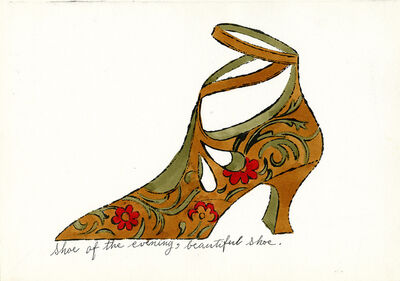 Andy Warhol, 'Shoe of the Evening, Beautiful Shoe', c. 1955
