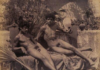Baron Wilhelm Von Gloedon, 'Three photographs of nude Sicilian youths', 1890s