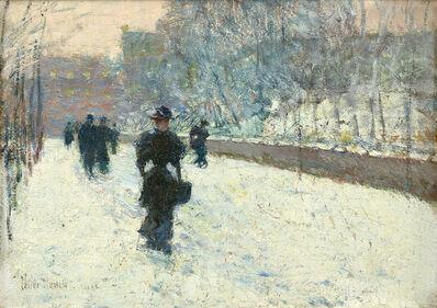 Childe Hassam, 'Promenade – Winter, New York', 1895