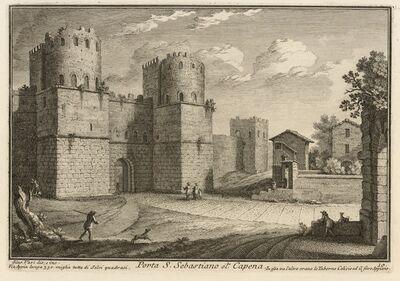 Giuseppe Vasi, 'Porta S. Sebastiano ot. Capena', 1747