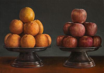 Helena Parada-Kim, 'Orange and apples', 2017