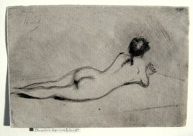 Theodore Roussel, 'Study from the Nude of a Girl Lying Down', 1890
