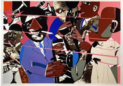 Romare Bearden, 'Jazz II Deluxe', 1980