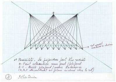 Esther Ferrer, 'Proyectos espaciales #5 (2/3)'
