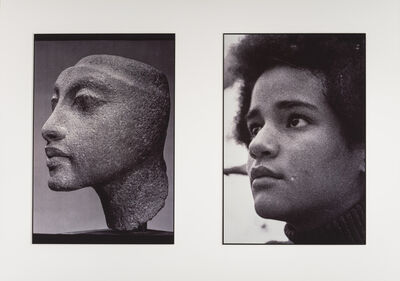 "Lorraine O'Grady, 'Sisters III (L: Nefertiti's daughter, Maketaten; R: Devonia's Daughter, Kimberley), from the ""Miscegenated Family Album""', 1980"