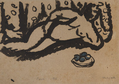 Marc Chagall, 'Nu aux pommes', 1911