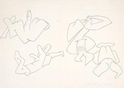 Maria Lassnig, '4 Selfportraits der Strudelfinger', 1973