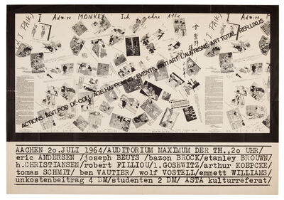 Wolf Vostell, 'Actions, Agit Pop, Dé-Coll/age, Happening, Events, Antiart, L'Autrisme, Art Total, Refluxus', 1964