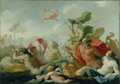 Eustache Le Sueur, 'Marine Gods Paying Homage to Love', 1636-1638