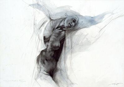 Ernest Pignon-Ernest, 'Les extases - Etude pour Angèle de Foligno', 2008