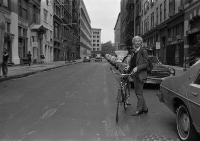 Robert Levin, 'Andy Warhol with Bike on 11th Street, NYC 1981', 2015