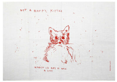 Tracey Emin, 'Not a Happy Kitten', 2003