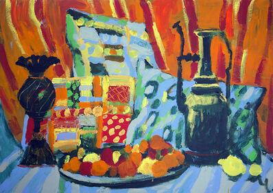 Maryam Alakbarli, 'Oreillers, vases orientaux (pillows, oriental vases)', 2018