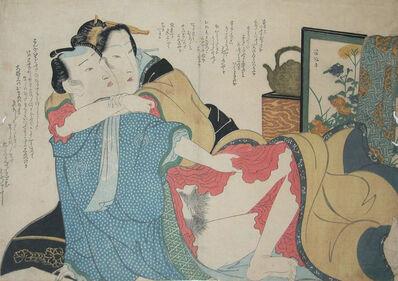 Keisai Eisen, 'Tender Embrace', ca. 1830