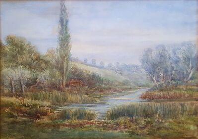 Felix Frederick Raffael Ferdinand Fielding, 'River Ouse Landscape, Yorkshire', ca. 1845