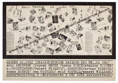 Wolf Vostell, 'Actions, Agit Pop, Dé-Coll/age, Happening, Events, Antiart, L'Autrisme, Art Total, Refluxus', 1964