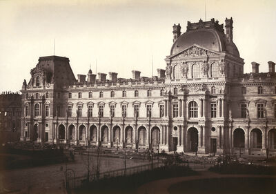 Édouard Baldus, 'Pavillon Richelieu and Pavillon Turgot, Louvre, Paris', 1855-57
