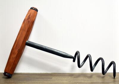 David Tanych, 'Small Bronze Corkscrew with Base #4U'