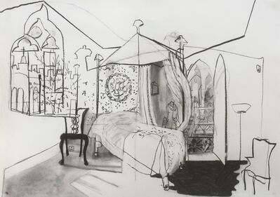 Katie Sollohub, 'The Blue Bedchamber (At Strawberry Hill House)', 2017