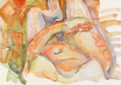 Maria Lassnig, 'Der Bauch von Calabrien', 1986