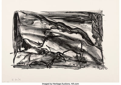 Elaine de Kooning, 'Untitled, from The Lascaux Series (two works)', 1984