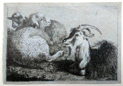 Francesco Londonio, 'Goat, lamb and calf'