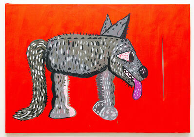 Michael Pybus, 'Red Dog with Stilt', 2017