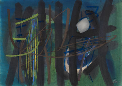 Fritz Winter, 'Gräser vor dem Wald', 1952