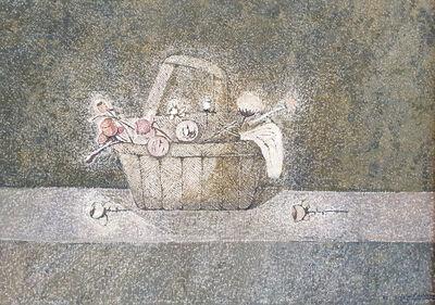Cristino de Vera, 'Cesto con flores', 1983