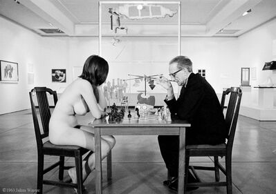 Julian Wasser, 'Marcel Duchamp Playing Chess with Eve Babitz, 1964', 1964