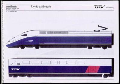 Roger Tallon, 'TGV Duplex external livery', 1994