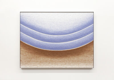 Mimi Jung, '102417 Pale Blue and Brown Ellipses', 2020
