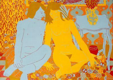 Norman Gilbert, 'Blue Boy and Yellow Girl', 1981