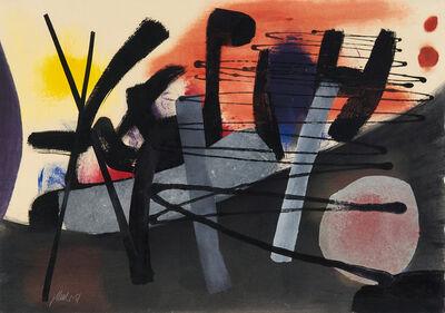 Fritz Winter, 'Vor Rot und Gelb', 1951