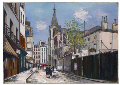 Maurice Utrillo, 'L'église Saint-Séverin à Paris', 1925