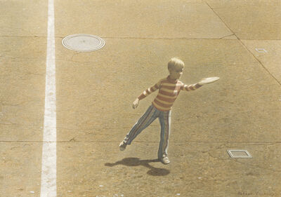 Robert Remsen Vickrey, 'Frisbee Thrower', ca. 1965-1970