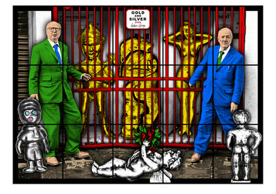 Gilbert and George, 'Gold & Silver', 2020