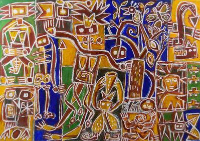 Pasquale Giardino, 'Owl and Figure', ca. 2000