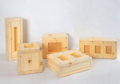 "Richard Artswager, 'SET of 3- ""Untitled (1000 Cubic Inches)"", 1996, Small Wood Pieces, Parkett 46 Edition of 12 (each piece), SIGNED/Numbered..', 1996"