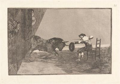 Francisco de Goya, 'The Daring of Martincho in the Ring at Saragossa (Temeridad de Martincho en la Plaza de Zaragoza)', 1816